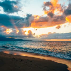 Maui Sunset landscape photography canvas and framed wall art