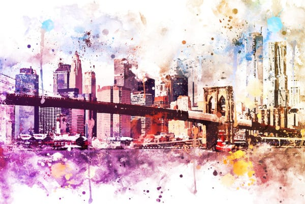 New York Dreams landscape photography canvas and framed wall art