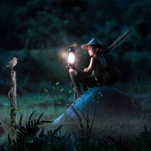 Night Attack surreal digital wall art prints