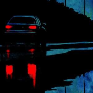 Noir digital comic illustration wall art canvas framed prints