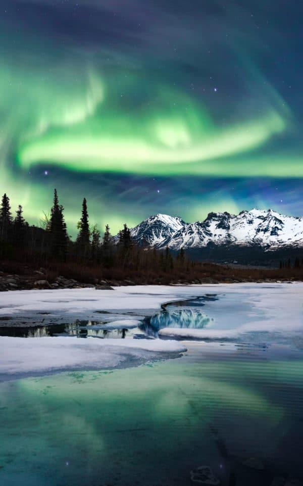 Northern Lights Landscape landscape photography canvas and framed wall art