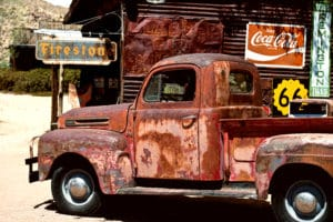 Old Truck Route 66 landscape photography canvas and framed wall art