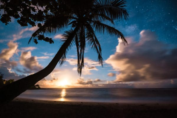 Paradise at Night landscape photography canvas and framed wall art