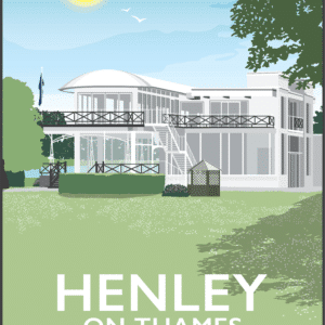 Phyllis Court Henley-on-Thames, Oxfordshire rustic digital canvas wall art print