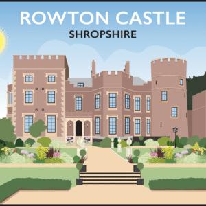 Rowton Castle, Shropshire rustic digital canvas wall art print