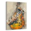 Saul's Electric Guitar stretched canvas retro digital canvas artwork prints