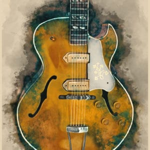 Scotty Moore's guitar digital canvas artwork prints