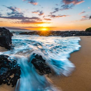 Secret Beach landscape photography canvas and framed wall art