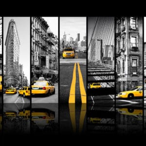 Seven of 7 NYC 3 landscape photography canvas and framed wall art