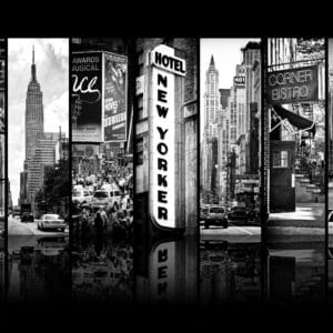 Seven of 7 NYC 5 landscape photography canvas and framed wall art