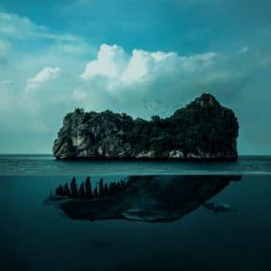 Skull Island surreal digital wall art prints