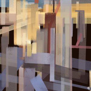 Skyline 1 abstract framed wall art