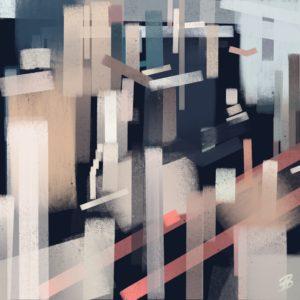 Skyline 2 abstract framed wall art