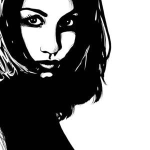 stare 3 digital comic illustration wall art canvas framed prints