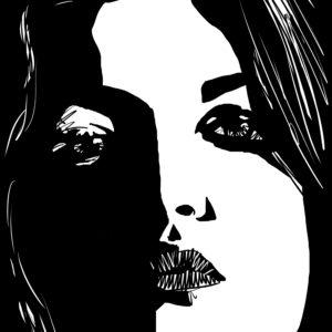 stare 4 digital comic illustration wall art canvas framed prints