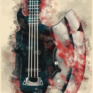 The Demon's Bass Axe digital canvas artwork prints
