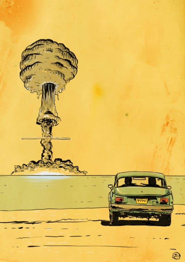 the end digital comic illustration wall art canvas framed prints