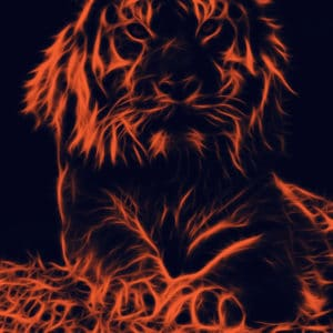 Tiger Glowing surreal digital wall art prints