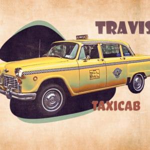 Travis' Taxicab digital canvas artwork prints