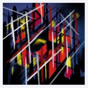 Underneath the city abstract framed wall art