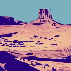 valley digital comic illustration wall art canvas framed prints