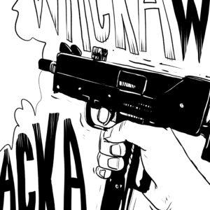 wackawacka digital comic illustration wall art canvas framed prints