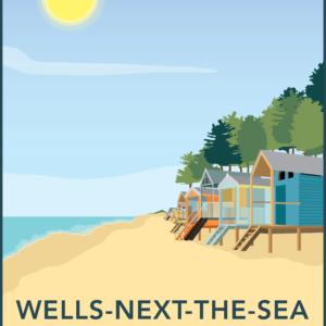 Wells next the sea, Norfolk rustic digital canvas wall art print