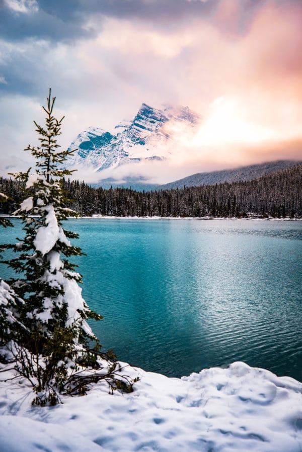 Winter Wonderland landscape photography canvas and framed wall art