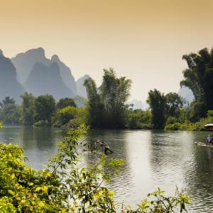 Yangshuo Li River landscape photography canvas and framed wall art