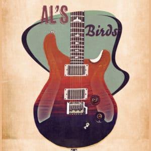 al di meola's guitar retro digital canvas artwork prints