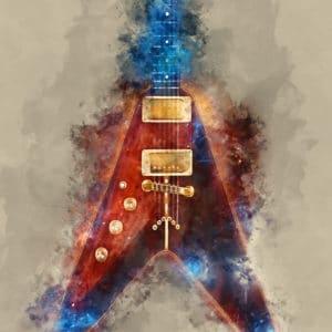albert king's guitar digital canvas artwork prints