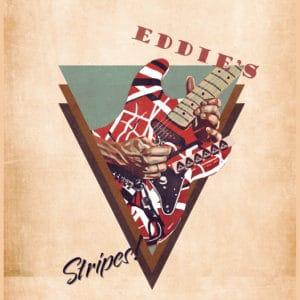 eddie van halen's guitar retro digital canvas artwork prints