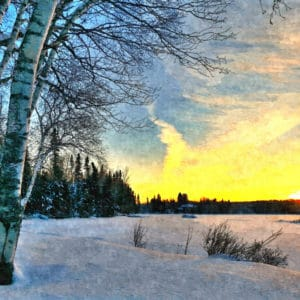 end of a winter's day abstract framed wall art canvas prints