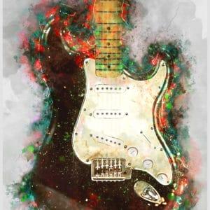 eric clapton's blackie guitar digital canvas artwork prints