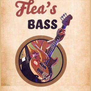 flea's bass retro digital canvas artwork prints
