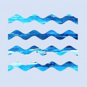 four wavy lines abstract framed wall art canvas prints