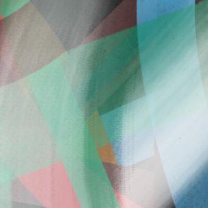 green fields section 4 abstract framed wall art