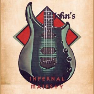 john petrucci's guitar retro digital canvas artwork prints