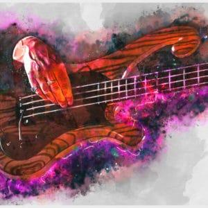 les claypool's bass digital canvas artwork prints