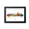 london watercolour skyline black frame border eg unique digital wall art canvas framed prints