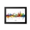 london watercolour skyline black frame no border eg unique digital wall art canvas framed prints
