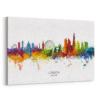 london watercolour skyline stretched canvas unique digital wall art canvas framed prints
