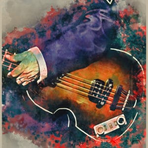 paul mccartney's bass digital canvas artwork prints