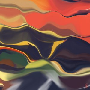 sunrise abstract framed wall art