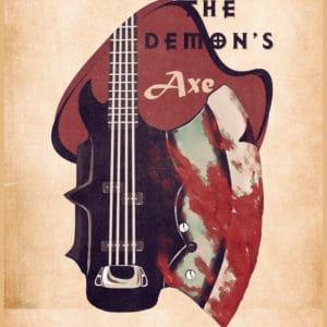the demon's bass retro digital canvas artwork prints